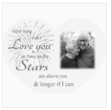 Valentine Personalised Acrylic Heart Photo Block : How long