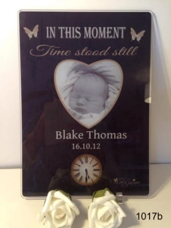 Moments in time - Black Acrylic plaque