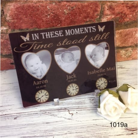 3 Moments in time acrylic plaque
