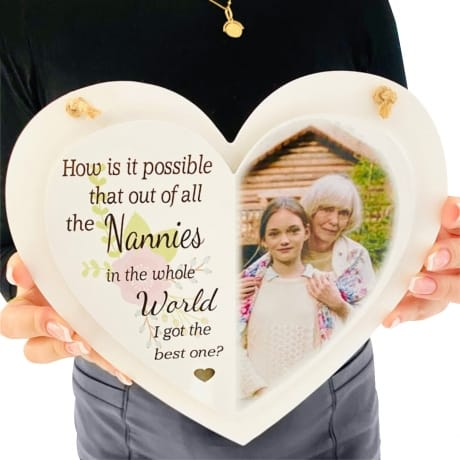 Personalised Deluxe Wooden Heart Keepsake