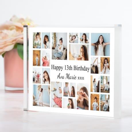 22 Photo Block Collage 13th Birthday
