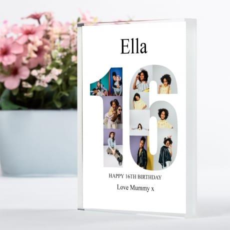 16 Birthday Photo Block Collage