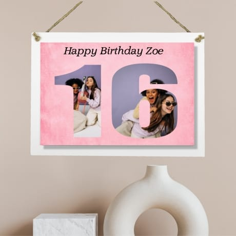 Personalised Deluxe Wall Signs - 16 Birthday