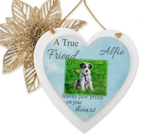 Personalised Deluxe Wooden Heart Pet Keepsake
