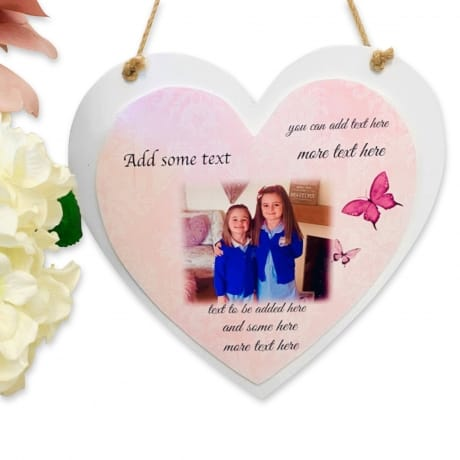 Create Your Own Personalised  Deluxe Wooden Heart Keepsake