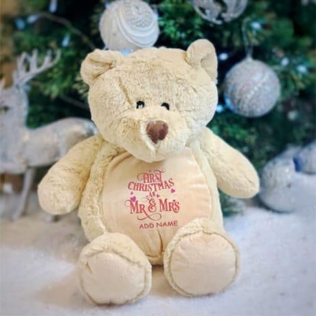 1st Christmas As Mr & Mrs Personalised Bear