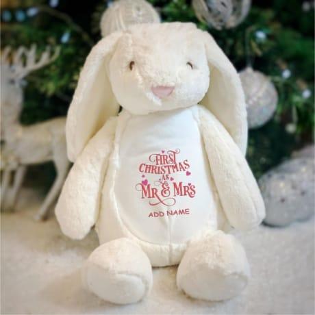 1st Christmas As Mr & Mrs Personalised Rabbit