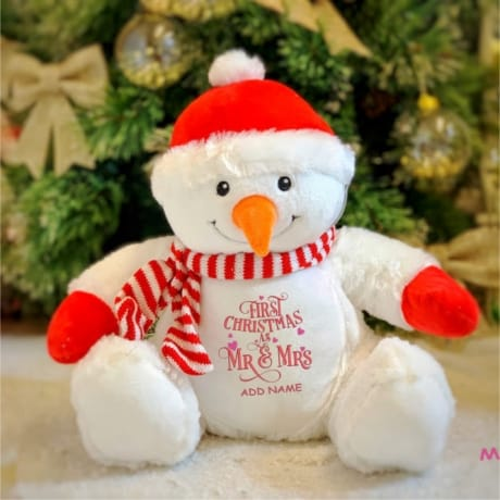 1st Christmas As Mr & Mrs Personalised Snowman