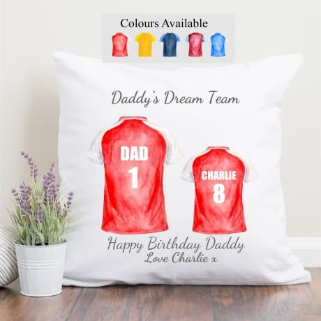 Personalised Family of 2 Football Team Cushion