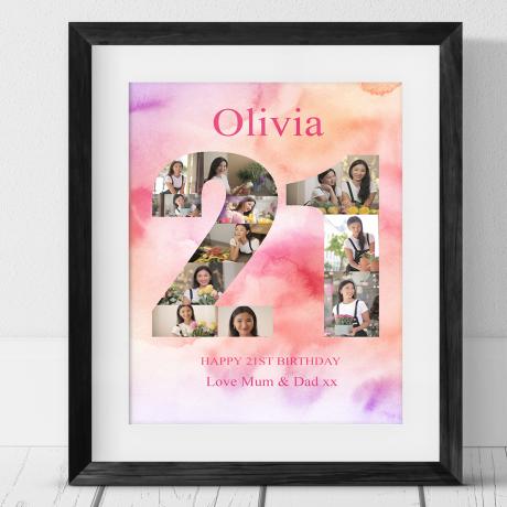 21 Birthday Photo Collage