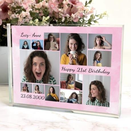 Age 21 Birthday photo collage Block