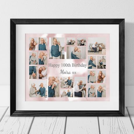 22 Photo Collage 100th Birthday