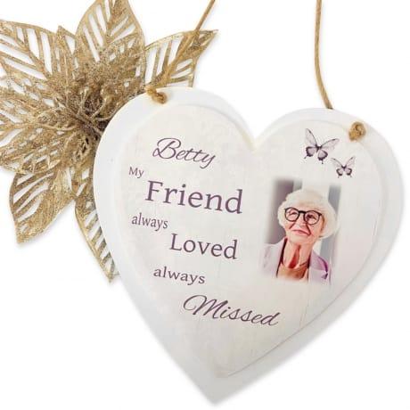 Personalised Deluxe Wooden Heart Memory Keepsake