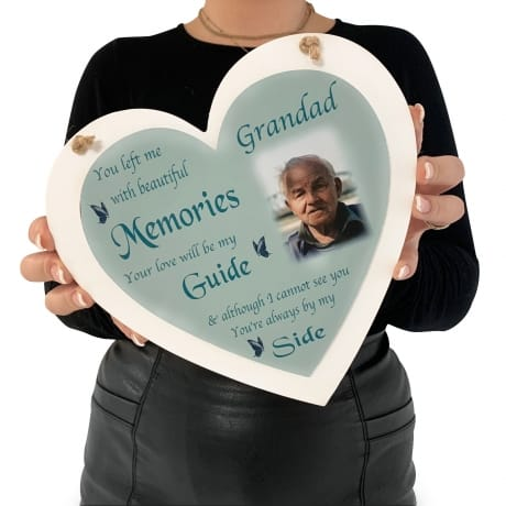 Personalised Deluxe Wooden Heart Remembrance Keepsake