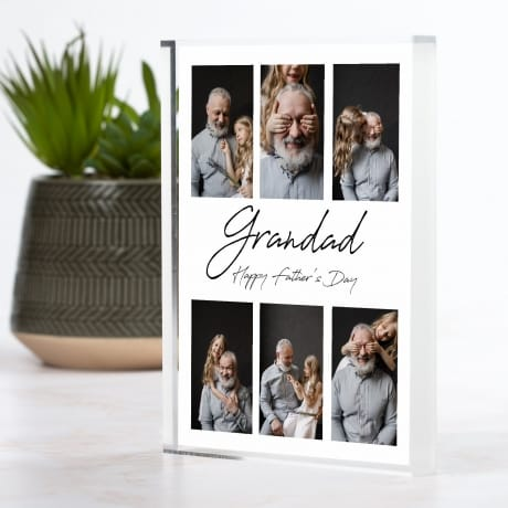 6 Photo Personalised Father's Day Block Collage