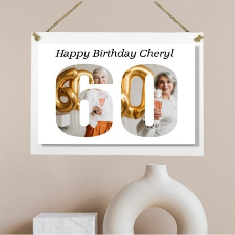 Personalised Deluxe Wall Signs - 60th Birthday