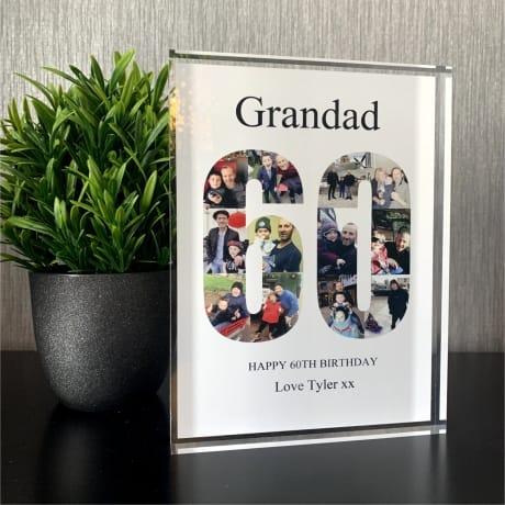 60 Birthday Photo Block Collage