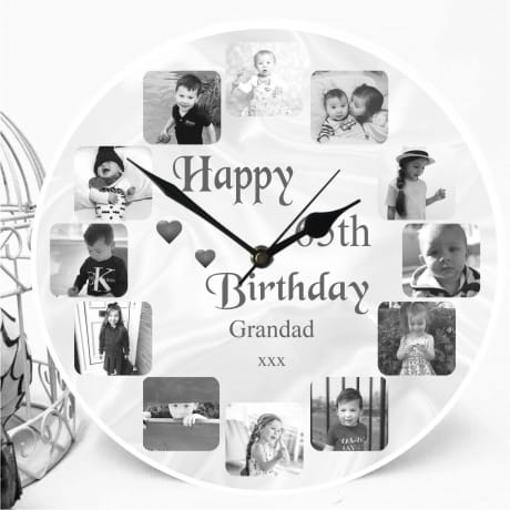 Personalised Clock - 65th Birthday