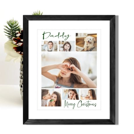 7 Photo Christmas Dad Collage