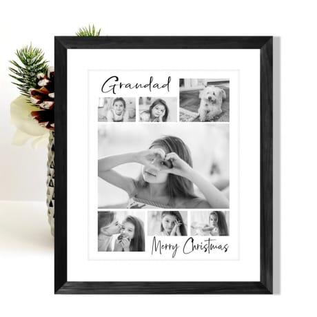 7 Photo Christmas Grandad Collage