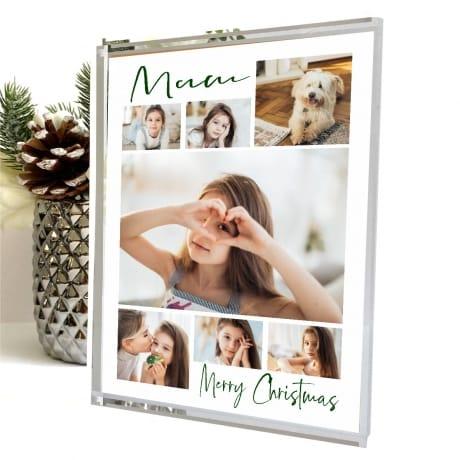 7 Photo Christmas Mum Block Collage