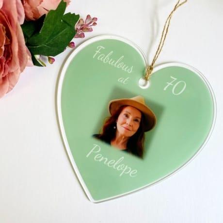 70th Birthday Heart
