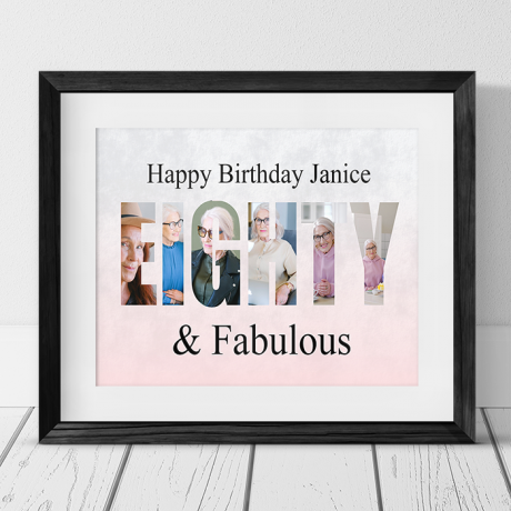 Eighty  Birthday Personalised Photo Collage