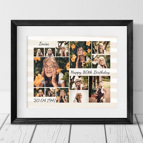 Age 80 Birthday photo collage