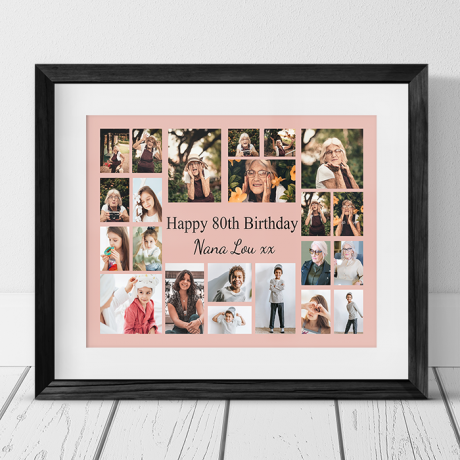 22 Photo Collage 80th Birthday