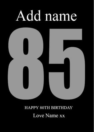 85 Birthday Photo Block Collage