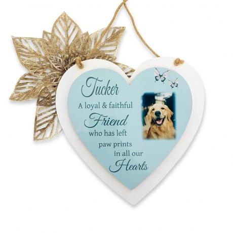 Personalised Deluxe Wooden Heart Pet Remembrance Keepsake