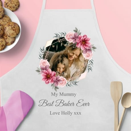 Personalised Floral Apron