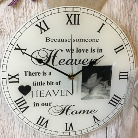 Personalised clock - Heaven in our home