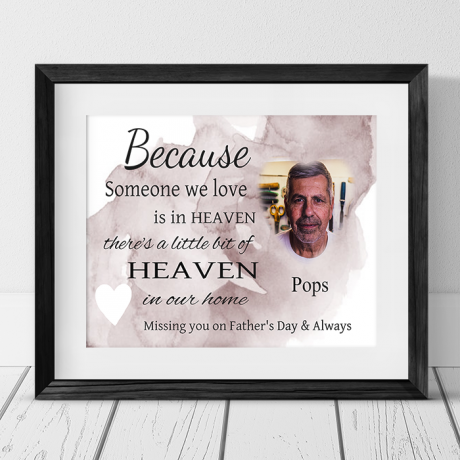 Personalised photo Remembrance Gift - Father's day