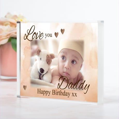 Birthday Photo Block : Love you