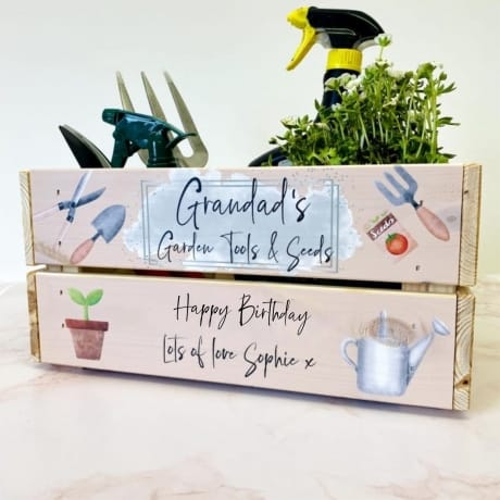 Personalised Garden Tools & Seeds Crate