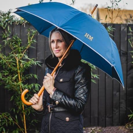 Personalised Luxury Navy Umbrella