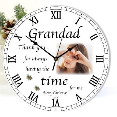 Christmas clock -  Grandad Thank you for
