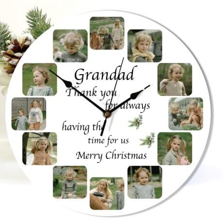 Christmas Grandad clock - Having the time for us