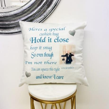 Personalised Cushion Hug
