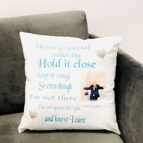 Personalised Cushion Hug