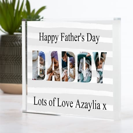 Daddy photo block collage - Father's Day gift