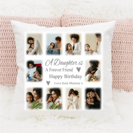 Personalised photo Birthday Cushion