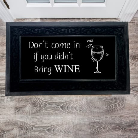 Personalised Wine Doormat
