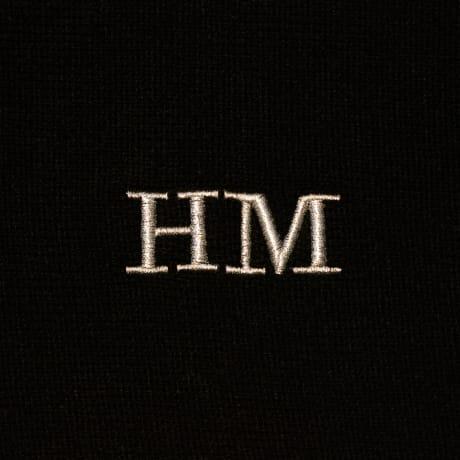 Personalised Luxury Mens Black Scarf