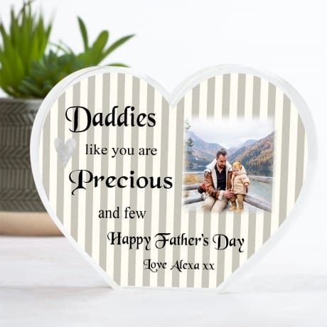 Father's day Heart Block - Precious and few