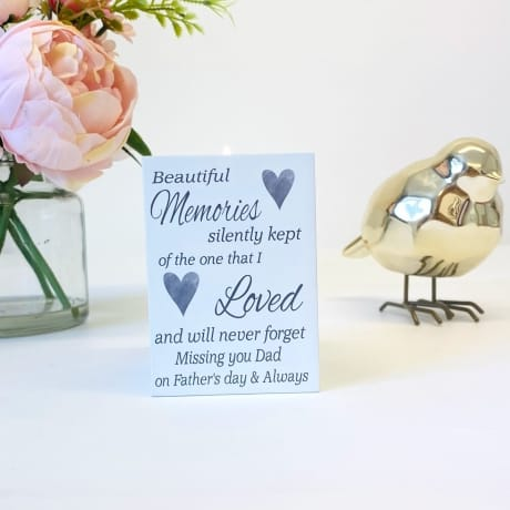 Tea Light Holder- Missing You On Father's Day