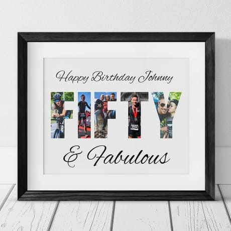 Fifty Birthday Personalised Photo Collage