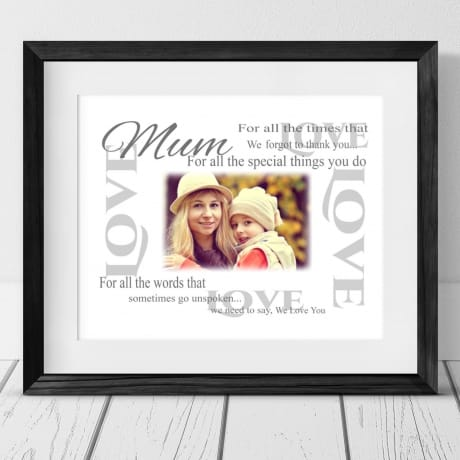 Personalised Thank you Frame - For all the times
