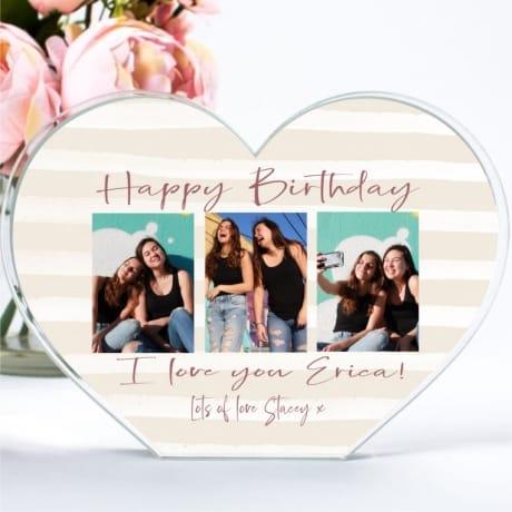 Friends Birthday Photo Collage Heart Block